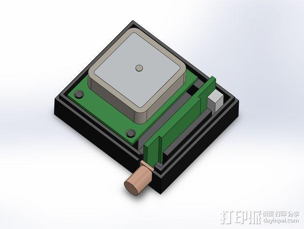 3DR/RCT Radio + CRIUS GPS保护外盒 3D模型  图3
