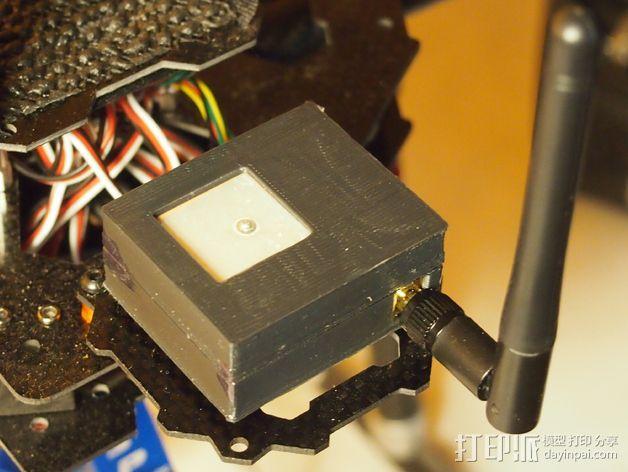 3DR/RCT Radio + CRIUS GPS保护外盒 3D模型  图8