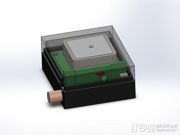 3DR/RCT Radio + CRIUS GPS保护外盒 3D模型  图10
