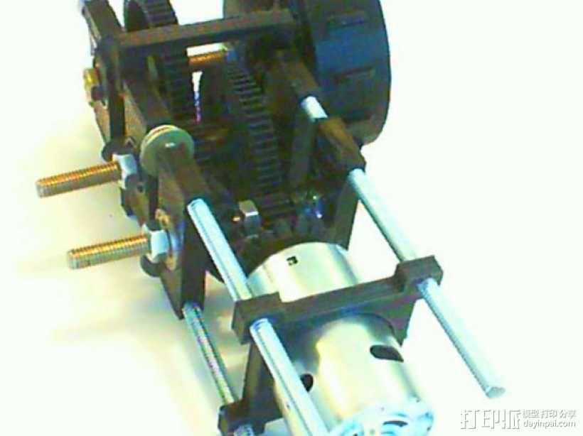 遥控坦克齿轮马达 3D模型  图1