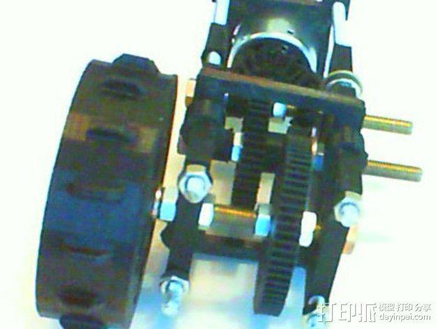 遥控坦克齿轮马达 3D模型  图2