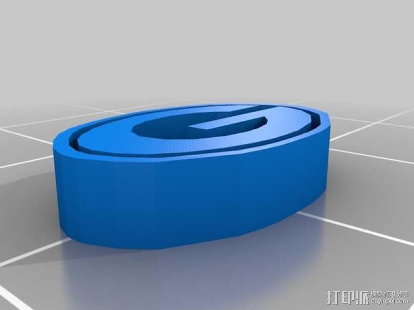 Green Bay绿湾包装工队 标志 3D模型  图1