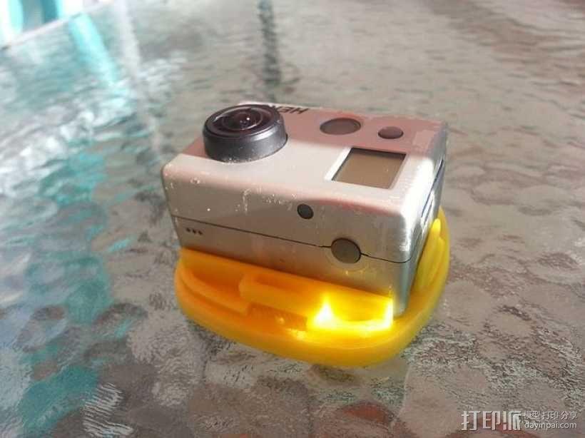 GoPro Hero 2相机固定器 3D模型  图1