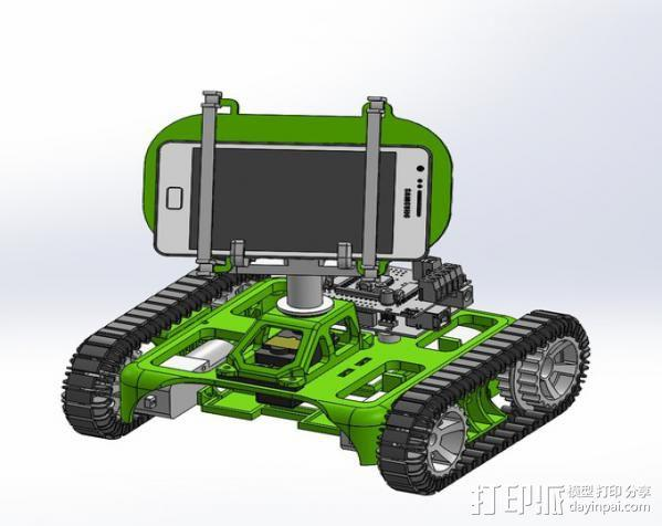 坦克车手机架  3D模型  图5
