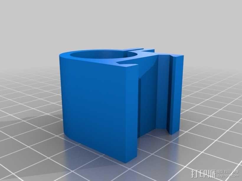 picatinny 皮卡丁尼导轨 3D模型  图1