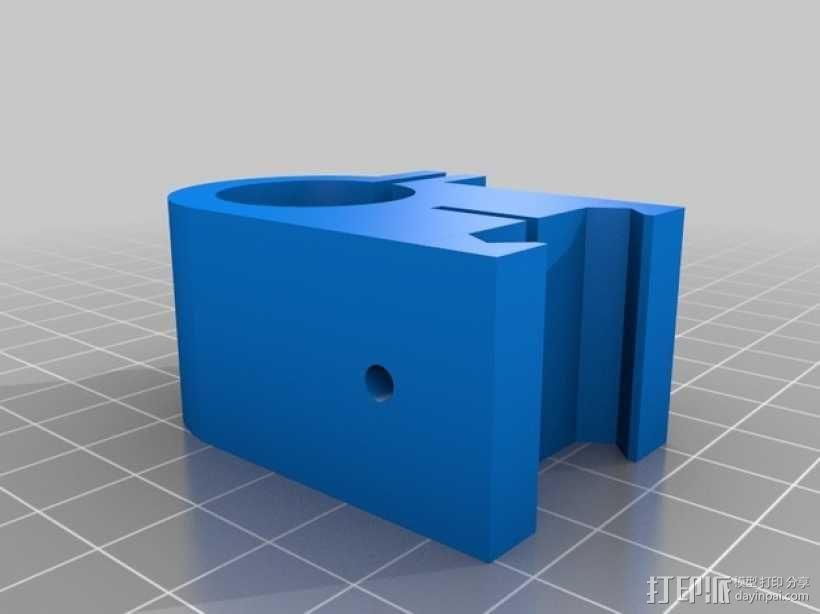 picatinny 皮卡丁尼导轨 3D模型  图2
