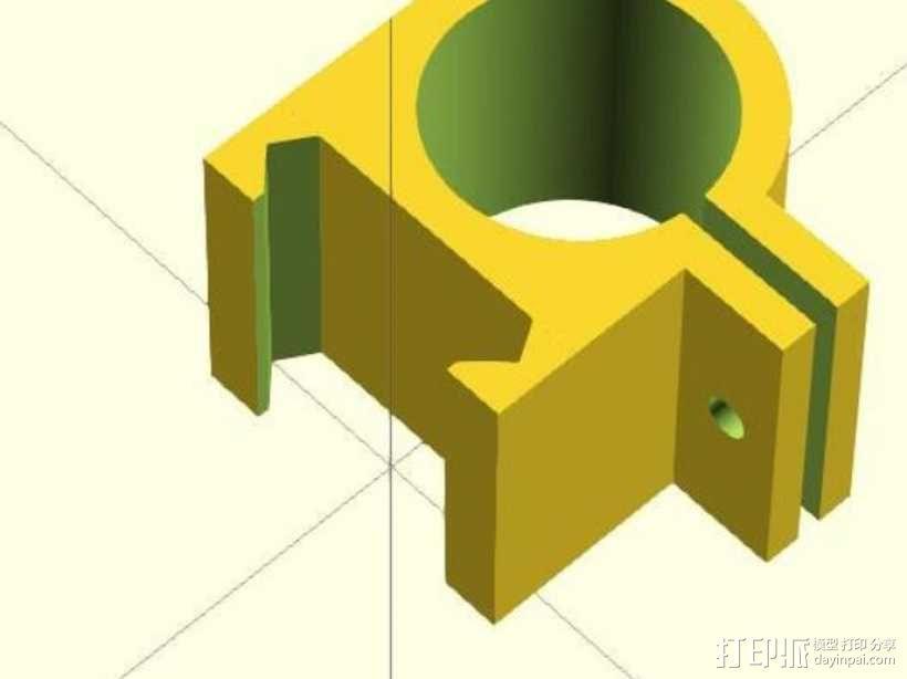 picatinny 皮卡丁尼导轨 3D模型  图4