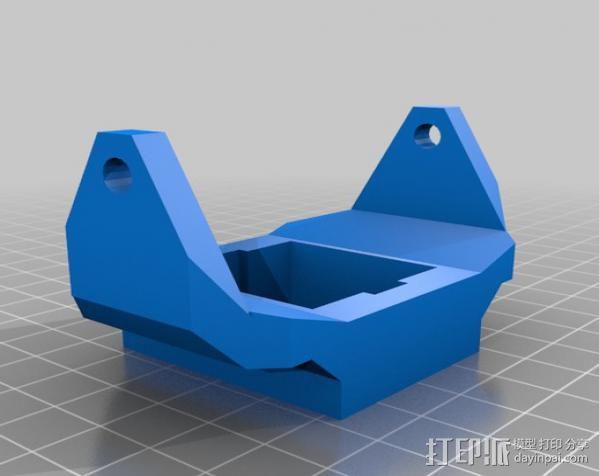 头盔灯座 3D模型  图2