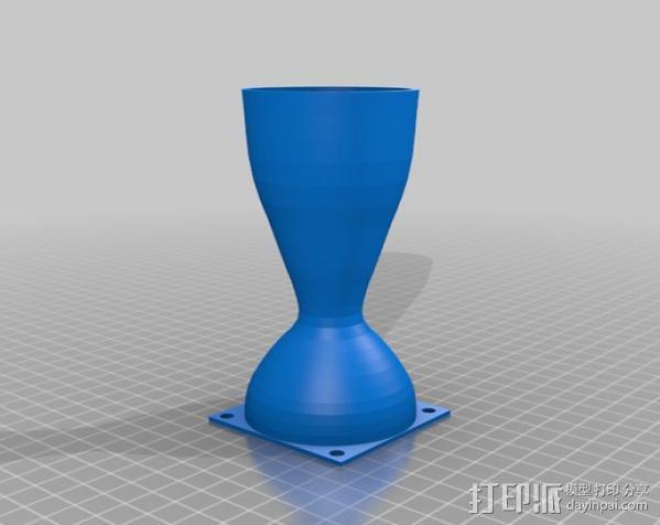 拉法尔喷嘴风扇座 3D模型  图1