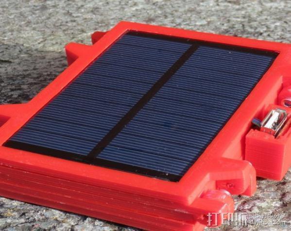 便携式太阳能电池板 3D模型  图3