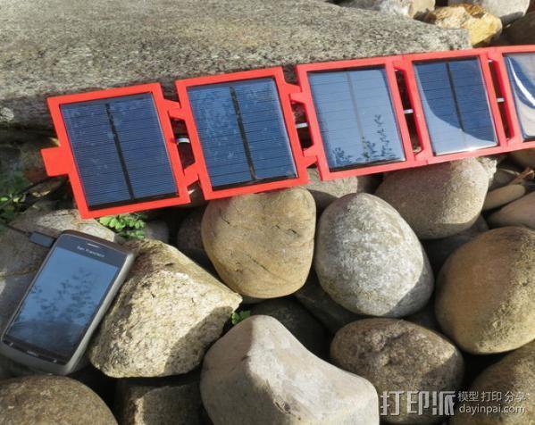 便携式太阳能电池板 3D模型  图2