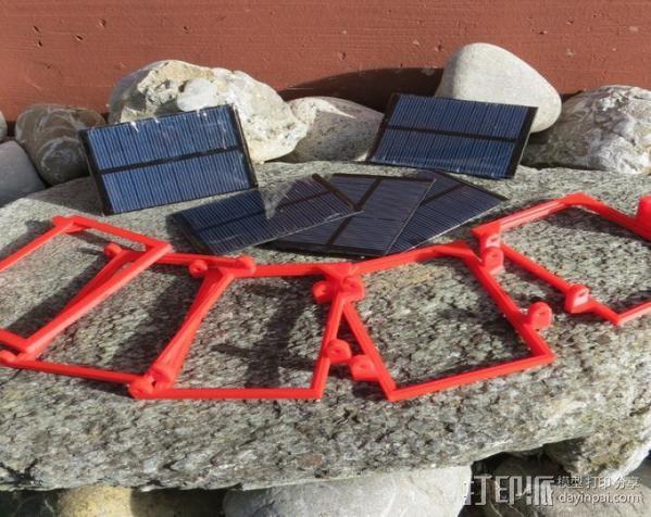 便携式太阳能电池板 3D模型  图4