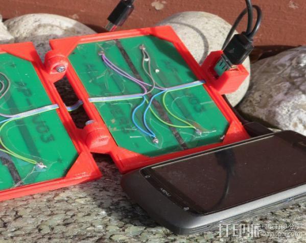 便携式太阳能电池板 3D模型  图12