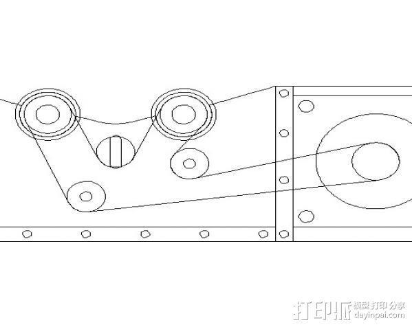 激光切割机上的旋转轴 3D模型  图3