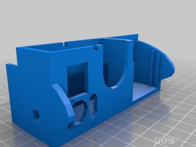 Gopro Hero 3相机保护外罩 3D模型  图1