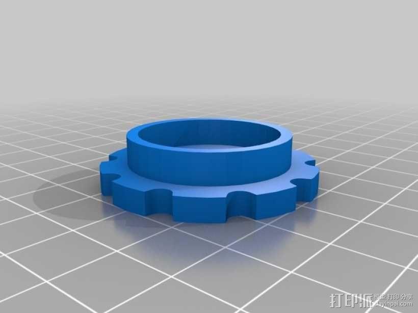履带式机器人 3D模型  图3