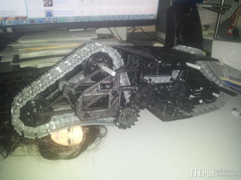 履带式机器人 3D模型  图1
