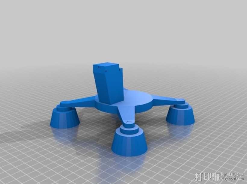 相机支架 万向节 3D模型  图1
