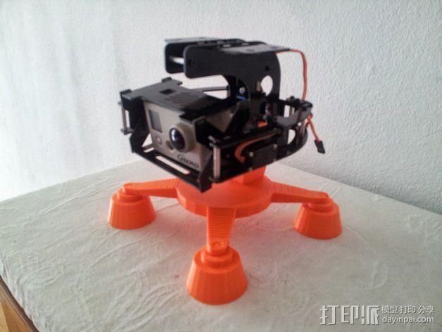 相机支架 万向节 3D模型  图4