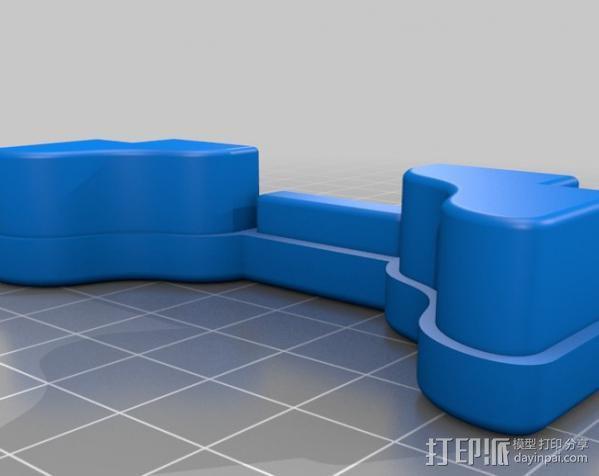 顶置自行车架管端盖板 3D模型  图1