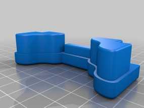 顶置自行车架管端盖板 3D模型