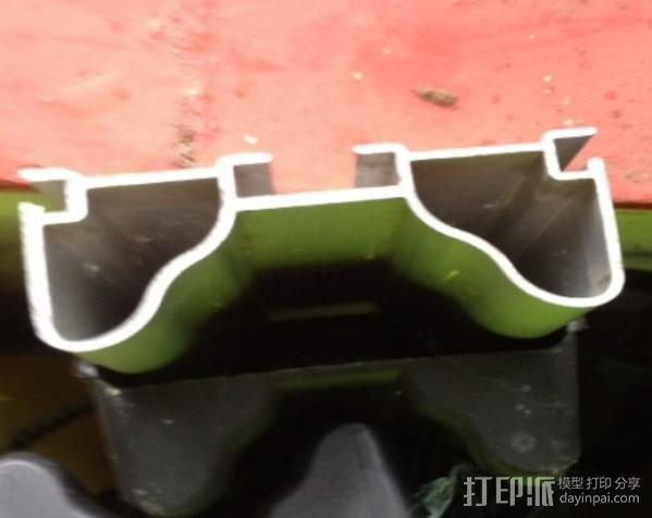 顶置自行车架管端盖板 3D模型  图3