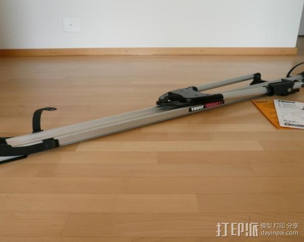 顶置自行车架管端盖板 3D模型  图2