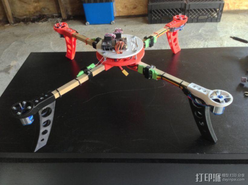 四轴飞行器中心毂 3D模型  图1