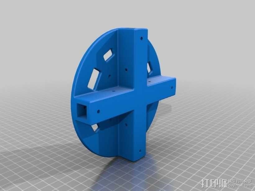 四轴飞行器中心毂 3D模型  图2