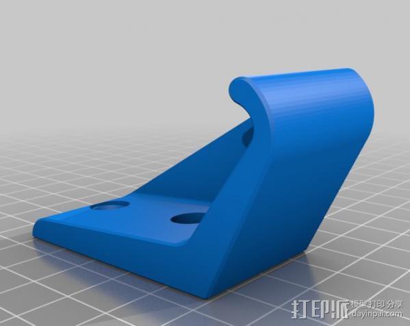 壁挂式唱片架  3D模型  图2