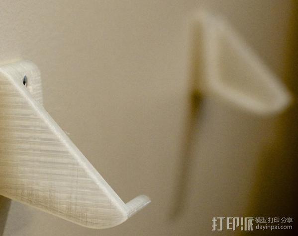 壁挂式唱片架  3D模型  图4