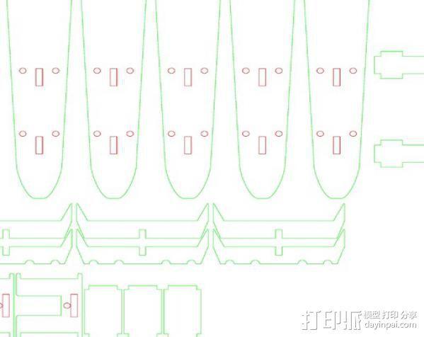 六旋翼飞行器 3D模型  图4