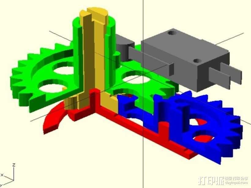 飞行模拟器的高度测量仪 3D模型  图1