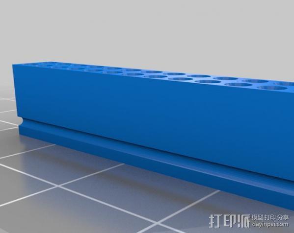 26针电缆连接器帽 3D模型  图2