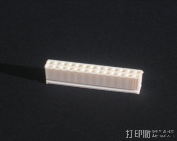 26针电缆连接器帽 3D模型  图3