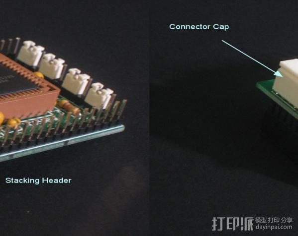 26针电缆连接器帽 3D模型  图5