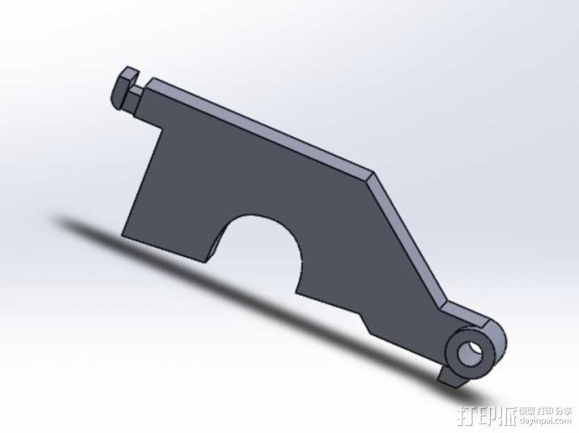 JR/SPEKTRUM RC 粘钩 3D模型  图1