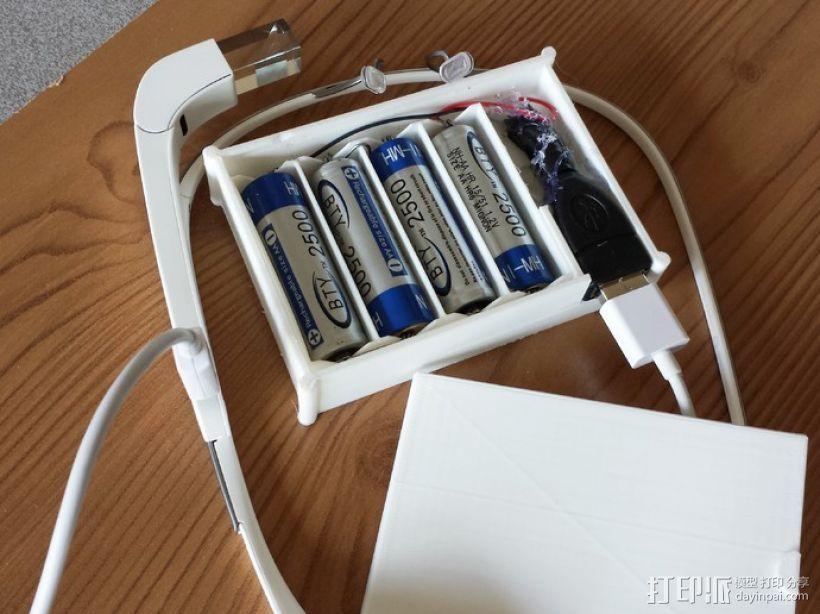 用两节AA电池做出你自己的1A+5V USB充电器 3D模型  图10