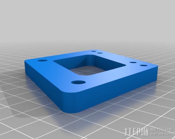 摩托车大灯支架与叉架 3D模型  图4