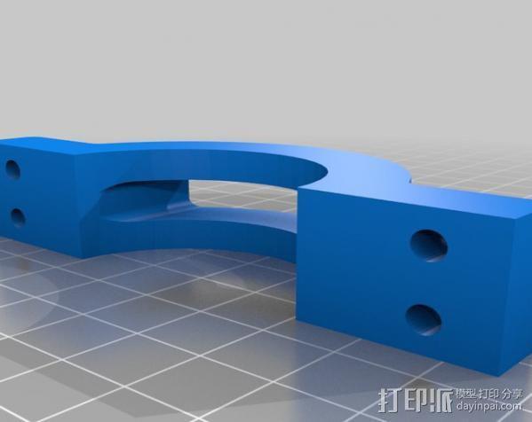 摩托车大灯支架与叉架 3D模型  图2