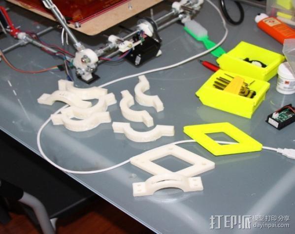 摩托车大灯支架与叉架 3D模型  图6