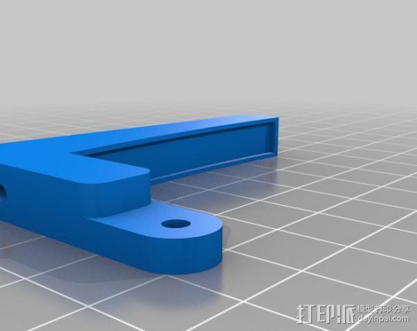 无弹性的吉他品柱 3D模型  图2