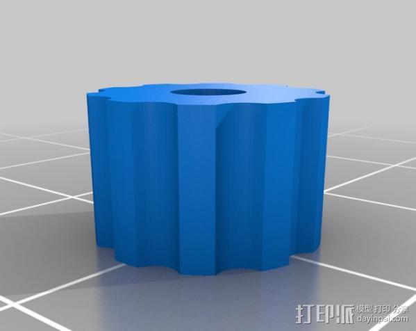 无弹性的吉他品柱 3D模型  图5