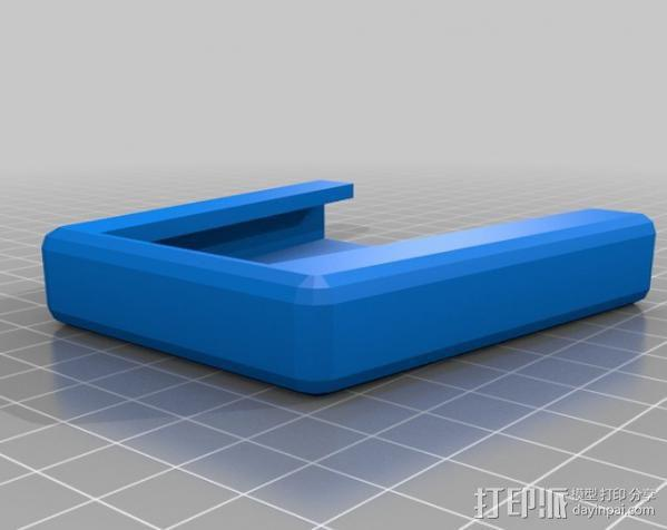 自行车载盖面 3D模型  图2