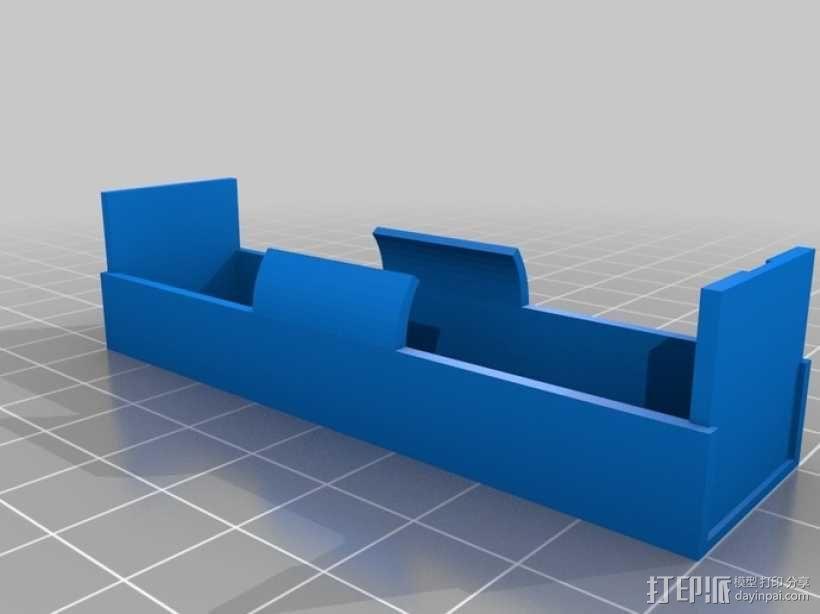 18650电池座 3D模型  图1