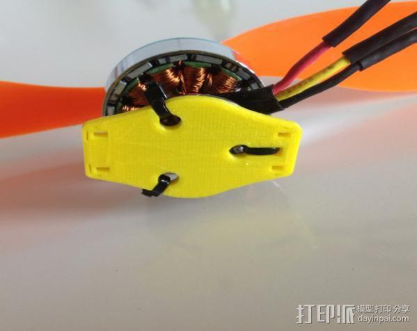 HexTronik DT750 摩托车适配器 3D模型  图6
