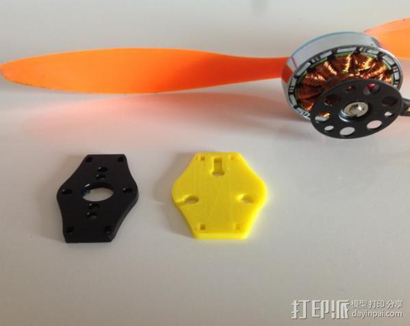 HexTronik DT750 摩托车适配器 3D模型  图5