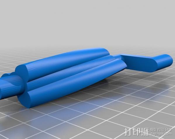 双螺杆增压器工具 3D模型  图2