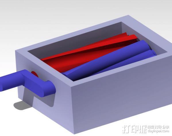 双螺杆增压器工具 3D模型  图1
