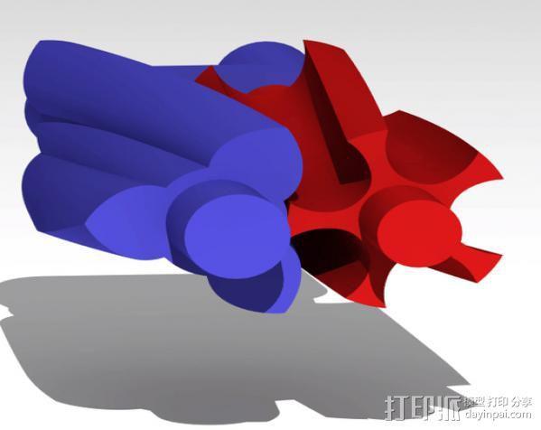双螺杆增压器工具 3D模型  图6